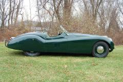 Jaguar XK120 Roadster Green 1950 Passenger Side View