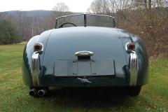 Jaguar XK120 Roadster Green 1950 Rear View