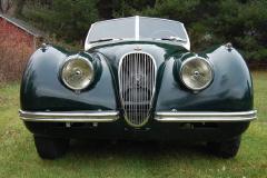 Jaguar XK120 Roadster Green 1950 Front View
