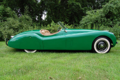 Jaguar XK 120 Roadster Green 1951 Passenger Side View