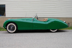 Jaguar XK 120 Roadster Green 1951 Driver Side View
