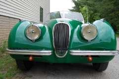 Jaguar XK 120 Roadster Green 1951 Front View