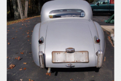 Jaguar XK120 White Project Car 1952 Rear View