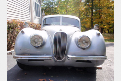 Jaguar XK120 White Project Car 1952 Front View