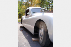 Jaguar XK120 White Project Car 1952 Passenger Side View