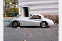 Jaguar XK120 White Project Car 1952 Driver Side View