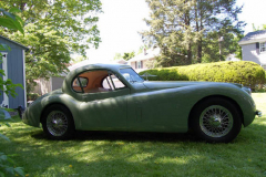 Jaguar XK120 Coupe Green 1953 Passenger Side View