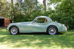 Jaguar XK120 Coupe Green 1953 Driver Side View