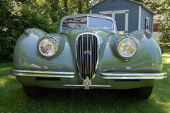Jaguar XK120 Coupe Green 1953 Front View