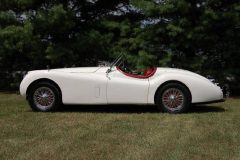 Jaguar XK 120 Roadster White 1954 Driver Side View