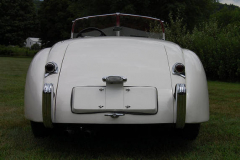 Jaguar XK 120 Roadster White 1954 Rear View