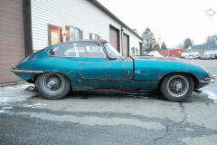 Jaguar XKE Series 1 Coupe Blue 1964 Passenger Side View