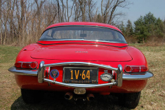 Jaguar XKE Series 1 Roadster Red 1964 Rear View