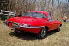 Jaguar XKE Series 1 Roadster Red 1964 Passenger Side View
