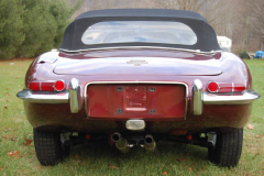 Jaguar XKE Roadster Series 1 5 Burgundy 1967 Rear View