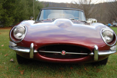 Jaguar XKE Roadster Series 1 5 Burgundy 1967 7Front View