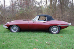Jaguar XKE Roadster Series 1 5 Burgundy 1967 Driver Side View