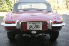 Jaguar Series 1.5 Roadster Burgundy 1968 Rear View