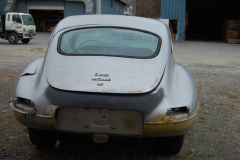 Jaguar XKE 2 Plus 2 Coupe Grey 1968 Rear View