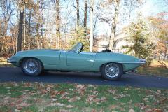 Jaguar XKE Series 1.5 Roadster Green 1968 Driver Side View