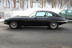 Jaguar XKE Series 2 2 Plus 2 Coupe Black 1969 Driver Side View