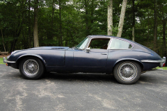 Jaguar XKE Series 2 Coupe Blue 1969 Driver Side View