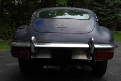 Jaguar XKE Series 2 Coupe Blue 1969 Rear View