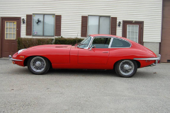 Jaguar XKE Series 2 Coupe Red 1969 Driver Side View