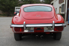 Jaguar XKE Series 2 Coupe Red 1969 Rear View