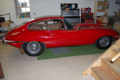 Jaguar XKE Series 2 Coupe Red 1969 Passenger Side View