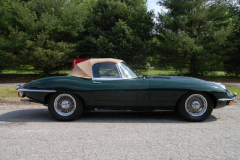 Jaguar XKE Series 2 Roadster Green 1969 Passenger Side View