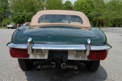 Jaguar XKE Series 2 Roadster Green 1969 Rear View