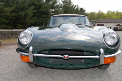 Jaguar XKE Series 2 Roadster Green 1969 Front View