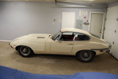 Jaguar XKE E Type Series 2 Coupe White 1970 Driver Side View