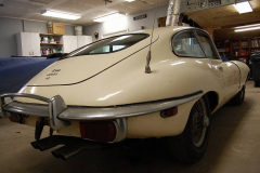Jaguar XKE E Type Series 2 Coupe White 1970 Passenger Side View