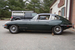 Jaguar XKE Series 2 Coupe 2 Plus 2 Green 1970 Driver Side View