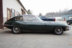 Jaguar XKE Series 2 Coupe 2 Plus 2 Green 1970 Passenger Side View