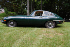 Jaguar XKE Series 2 Coupe Green 1970 Driver Side View