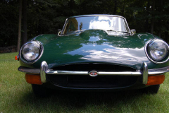 Jaguar XKE Series 2 Coupe Green 1970 Front View