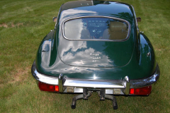 Jaguar XKE Series 2 Coupe Green 1970 Rear View