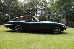 Jaguar XKE Series 2 Coupe Green 1970 Passenger Side View
