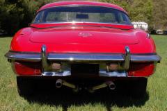 Jaguar XKE Series 2 Roadster Red 1971 Rear View