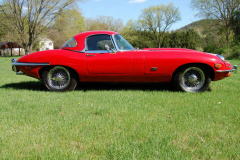 Jaguar XKE Series 2 Roadster Red 1971 Passenger Side View