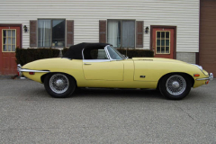 Jaguar XKE Series 2 Roadster Yellow 1971 Passenger Side View