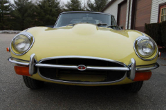 Jaguar XKE Series 2 Roadster Yellow 1971 Front View