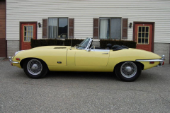 Jaguar XKE Series 2 Roadster Yellow 1971 Driver Side View