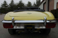 Jaguar XKE Series 2 Roadster Yellow 1971 Rear View