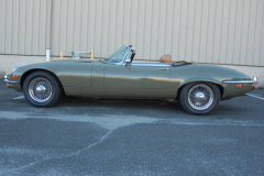 Jaguar XKE Series 3 Roadster Green 1973 Driver Side View