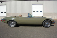Jaguar XKE Series 3 Roadster Green 1973 Passenger Side View