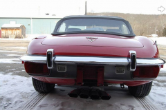 Jaguar XKE Series 3 Roadster Red 1973 Rear View